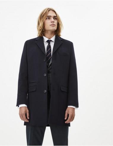 Manteau en laine et cachemire