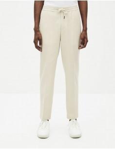 Pantalon lin et coton
