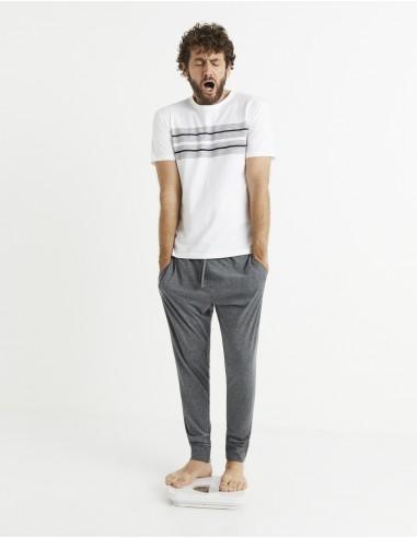 Pyjama manches courtes et jogging coton