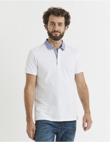 Polo coton mélangé