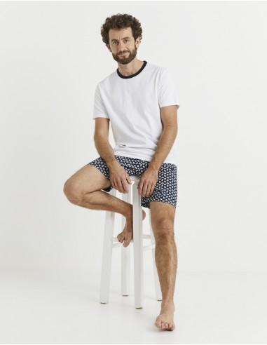 Pyjama manches courtes et bermuda