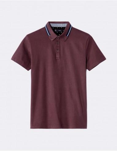 Polo straight en jersey 100% coton