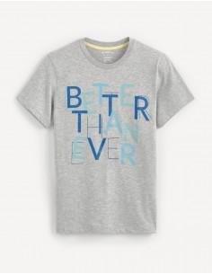 T-shirt col rond brodé