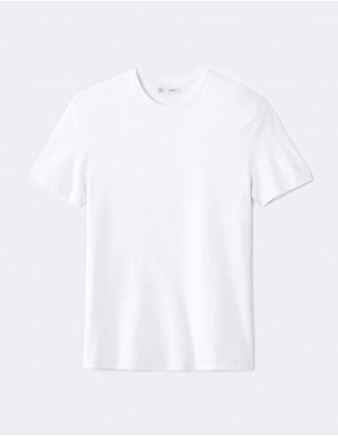 T-shirt straight soie et coton