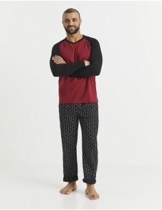 Pyjama manches longues et...
